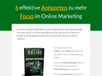 Focus im Online Marketing Affiliate program