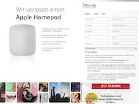 HomePod Gewinnspiel Affiliate program