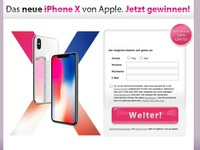 iPhoneX Gewinnspiel Affiliate program