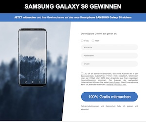 Galaxy S8 SM Gewinnspiel Affiliate program