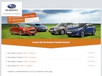 Subaru Probefahrt Programa de afiliados